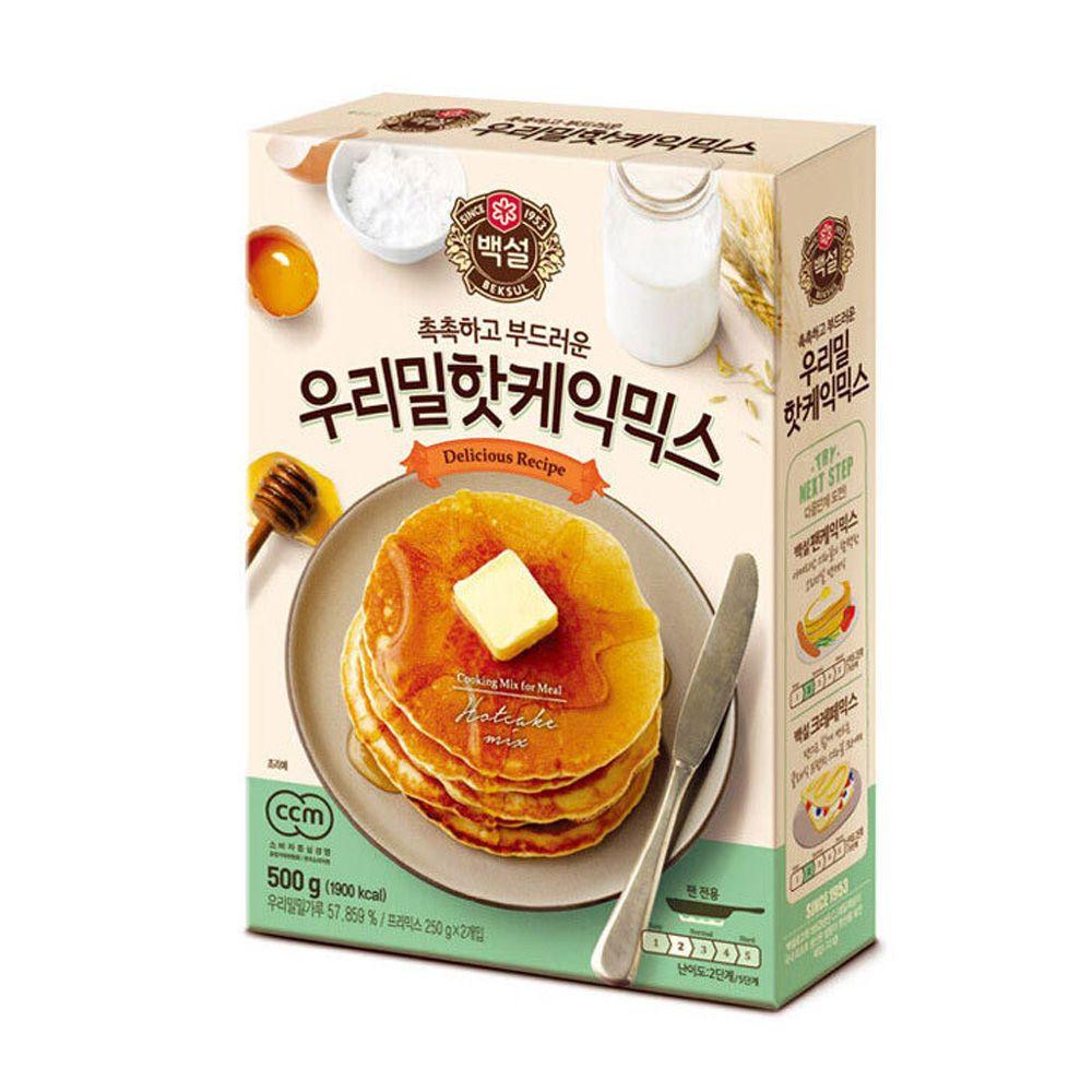 CJ백설 우리밀핫케익믹스 500g 핫케익가루 베이킹 빵