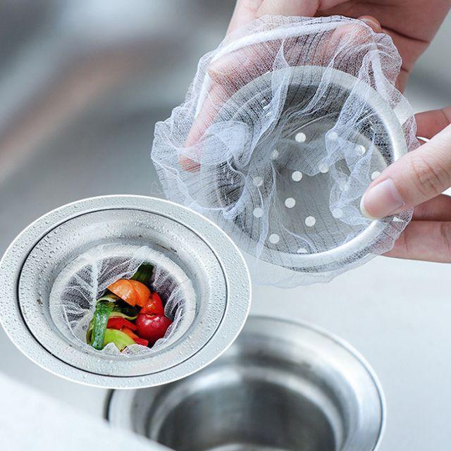 걸름망 촘촘 일회용 싱크대 음식물 거름망 1회용거름망 가정용배수구망
