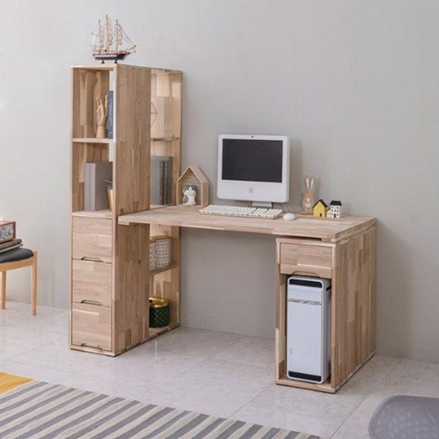 공부책상세트(1200) 본체통 학생 사무실 노트북테이블
