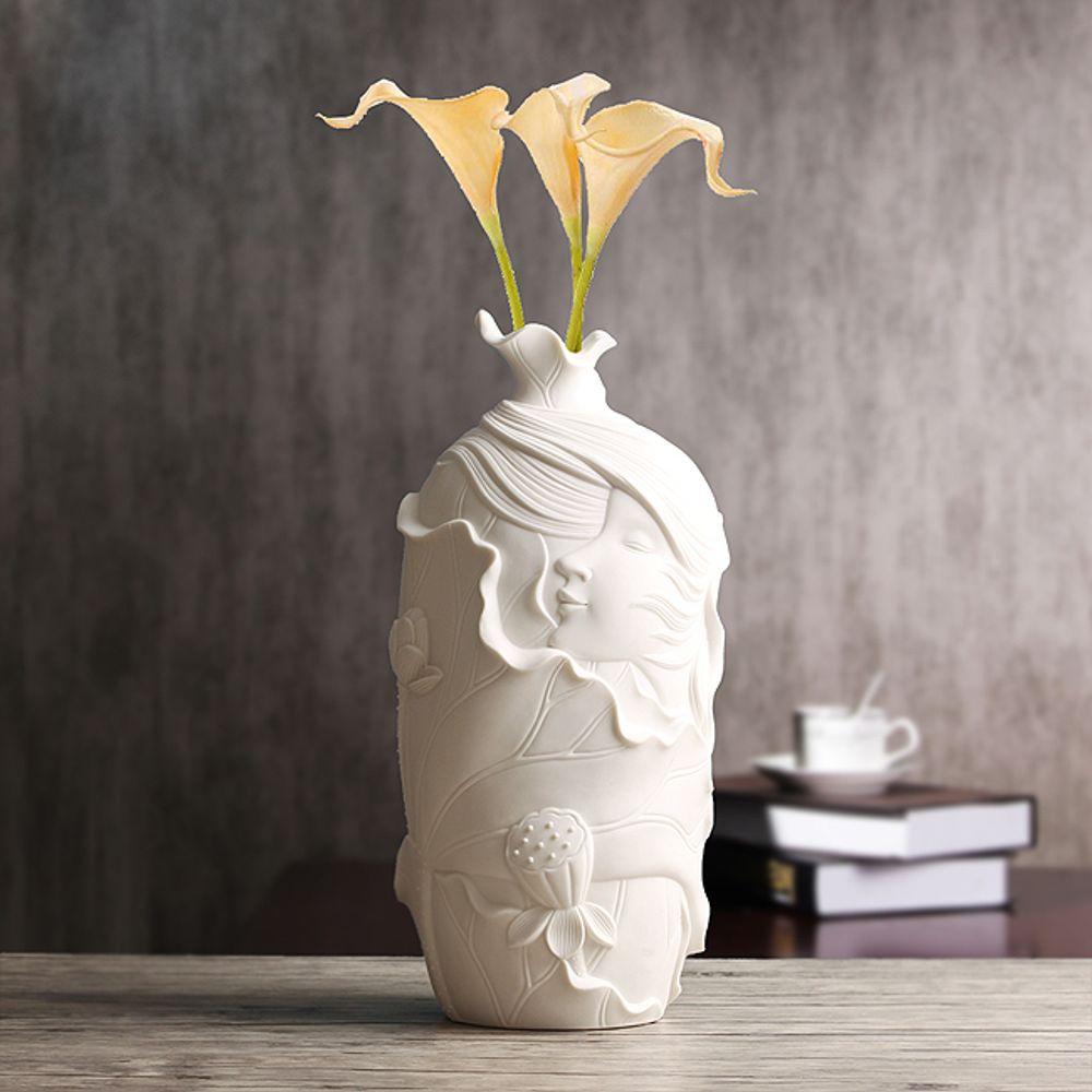 (V20)인테리어 바람결 도자기 인테리어 꽃병