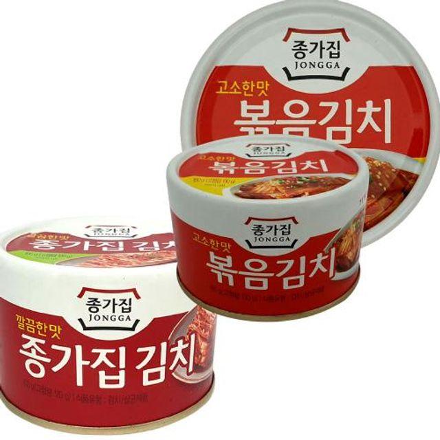 볶음김치 캔 김치 캔 여행 캠핑 등산 휴대용 김치요리