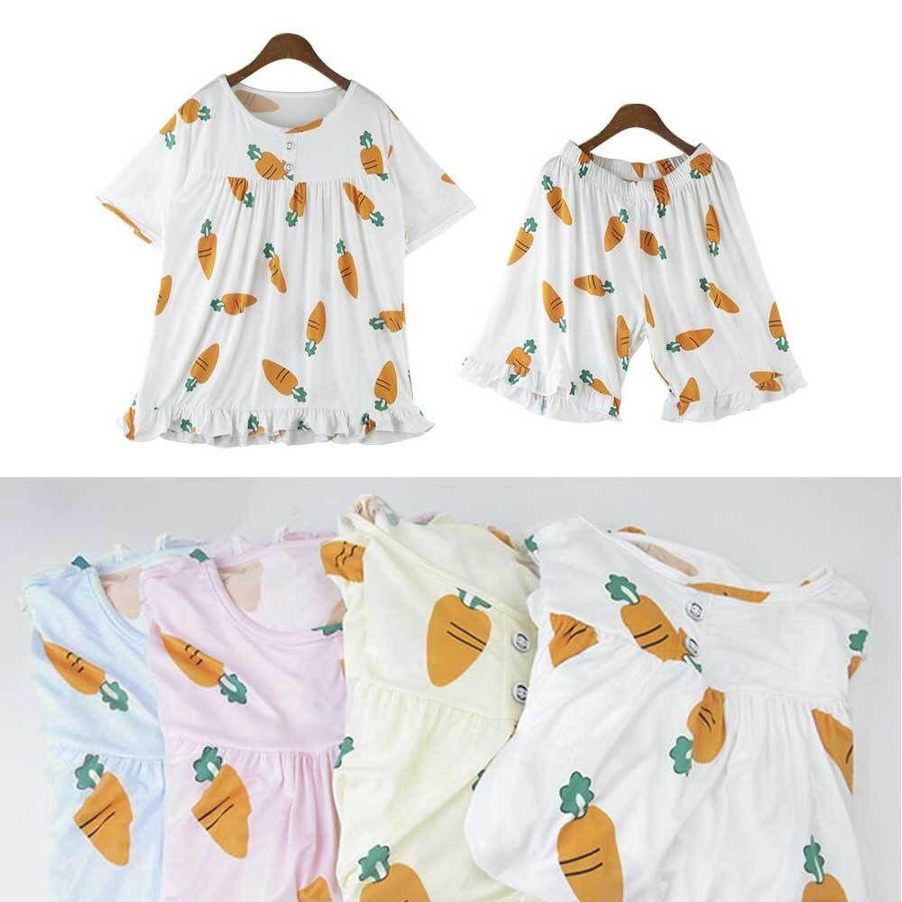 여자 반팔 잠옷 레이스 상하의세트 홈웨어 여름