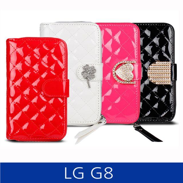 LG G8 퀼팅 지퍼지갑형 폰케이스