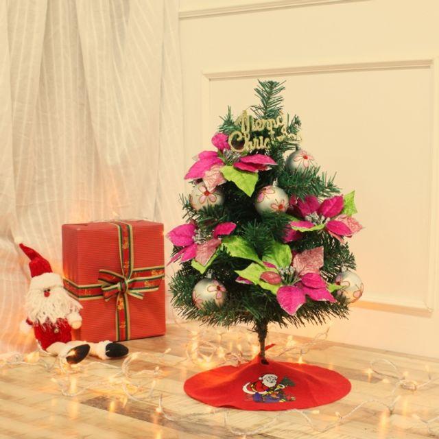 인테리어 60cm 핑크 로망스 스카치트리 풀세트 장식 성탄절 크리스마스 트리 54070A
