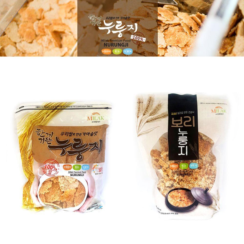 미락 누룽지 1kg/ 쌀누룽지 보리누룽지/간편식/소포장