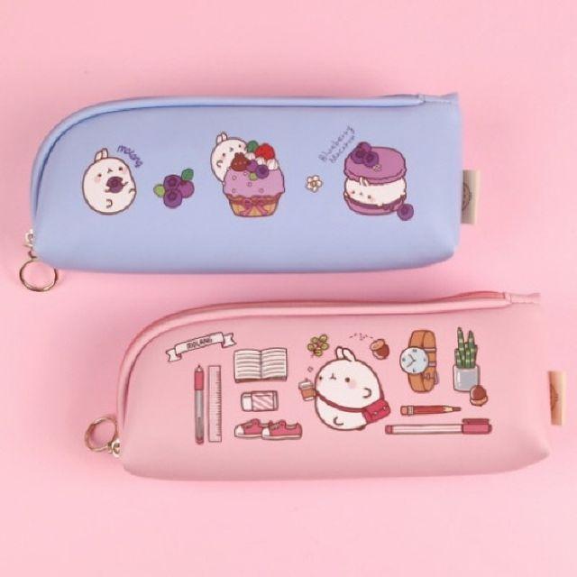 인기 몰랑이 라운드 코너 필통/파우치 핑크