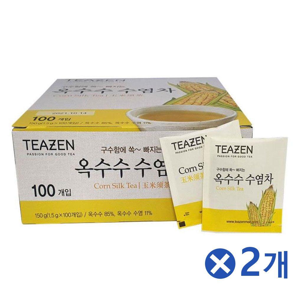 티젠 옥수수수염차 100티백x2개 탕비류 전통차 티백차