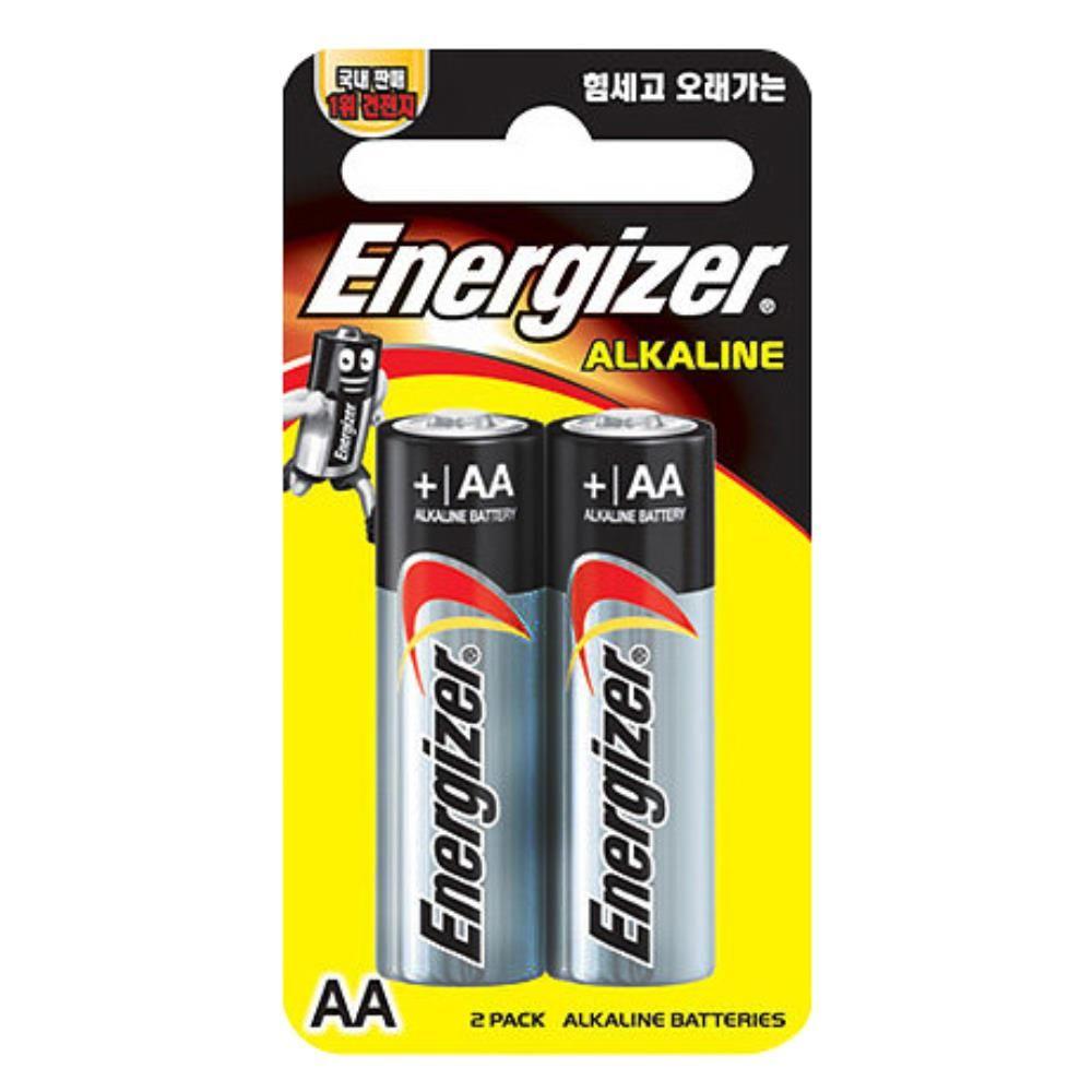 에너자이자 알카라인 AA 소형 건전지 2p 전기용품