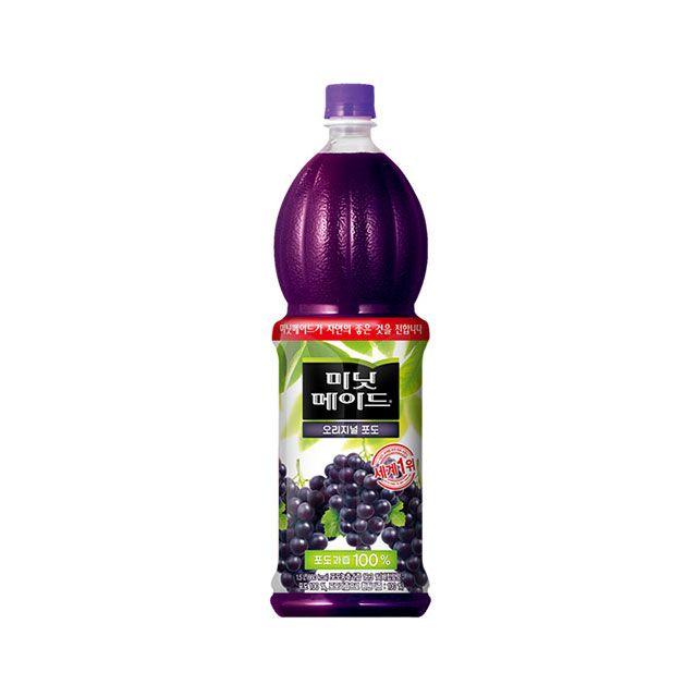 미닛메이드 포도 1.5L 12개 웰빙 저칼로리 과일 주스
