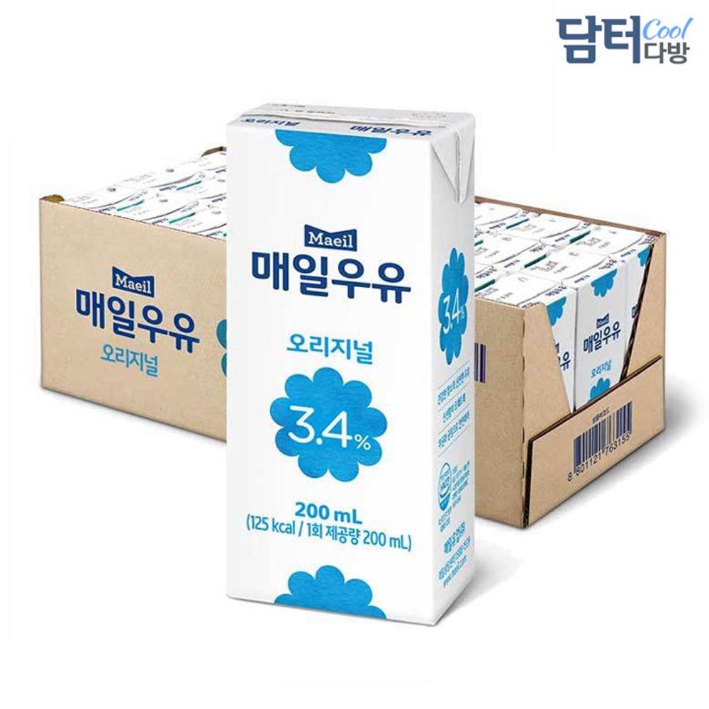 매일유업 흰우유 200ml (24팩)