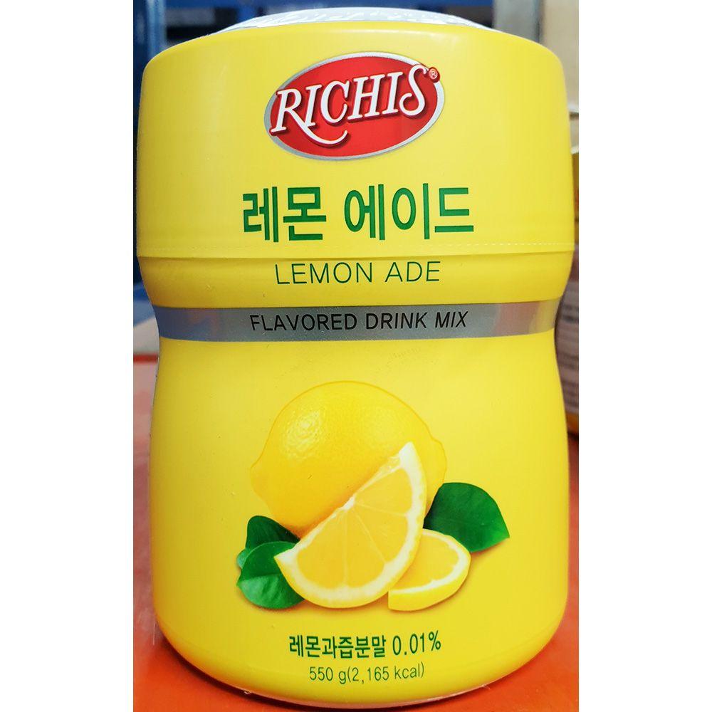 레몬 에이드 파우더 리치스 550g x6개 액상 음료