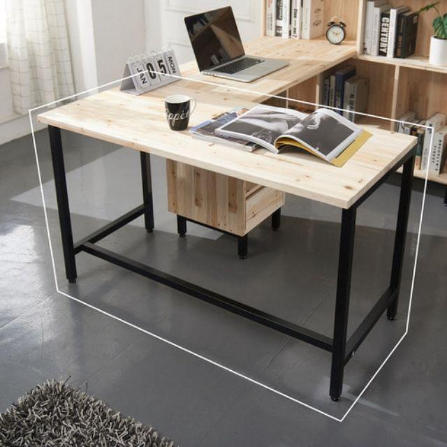 삼나무 1200 컴퓨터 사무용 철다리 일자책상