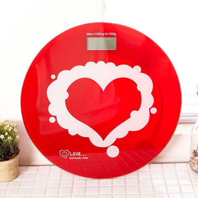 가정용 디지털 전자 스마트 저울 체중계 러브하트