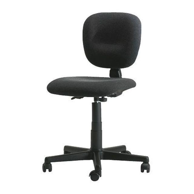 이케아 STEFANO 회전의자 컴퓨터의자 의자바퀴 블랙