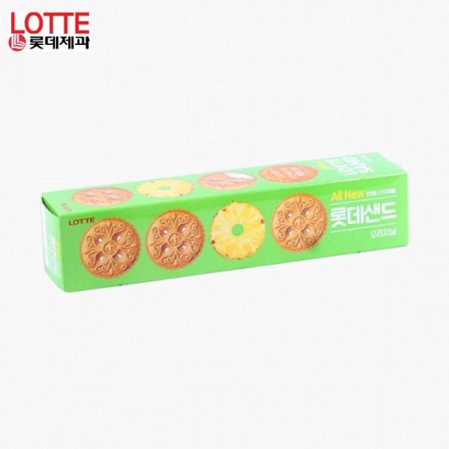 롯데샌드 105g X 15곽 기획세트 달콤한파인애플맛샌드 부드러운크림 어린이간식