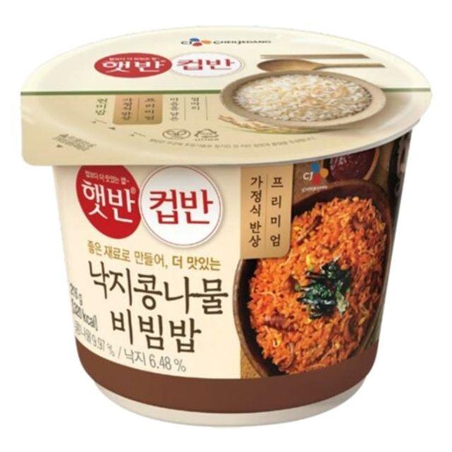 햇 반 컵반 낙지 콩나물 비빔밥 216g x 18개