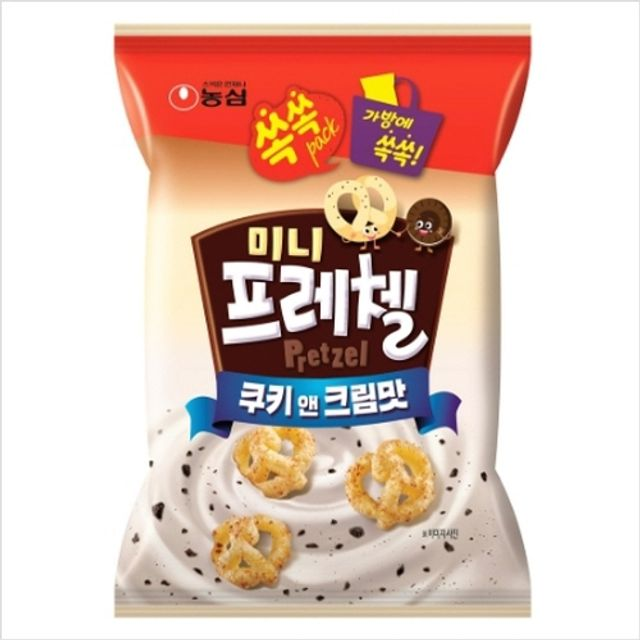 농심 미니 프레첼 쿠키앤크림맛 45gx24개입