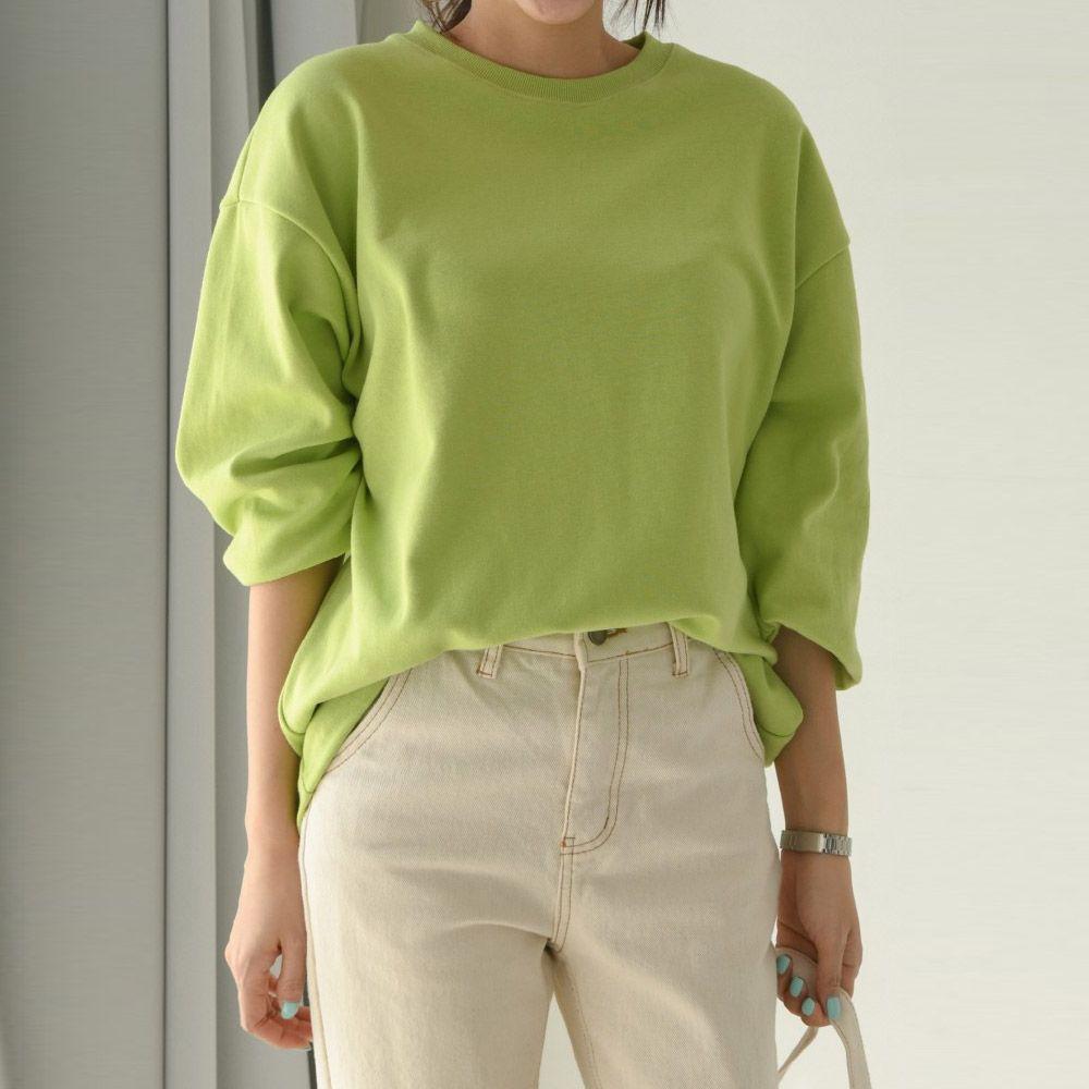 심플 무지 긴팔 티셔츠 z311AS004 여성 의류 옷
