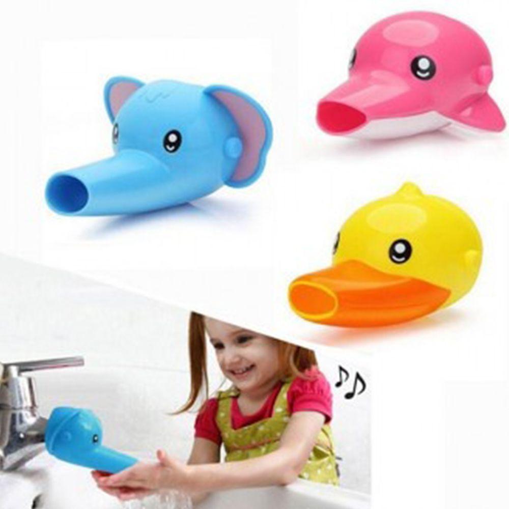 W0E4DC3 생활 건강>욕실용품>욕실잡화>샤워용품 수도꼭지연장(코끼리)(돌고래)(오리)/세면대/어린이