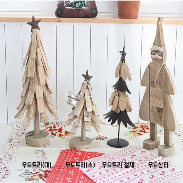 미니어처 장식 나무 트리 크리스마스 인테리어 소품