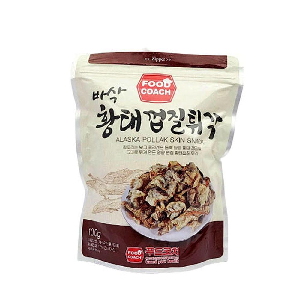 푸드코치 바삭 황태껍질튀각 100g/ 주전부리/간편간식