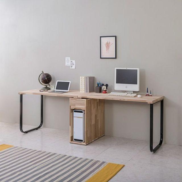철다리 2인용책상(2200) 본체통 컴퓨터 테이블 공부상