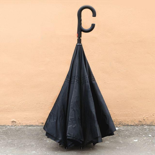 거꾸로 접는 튼튼한 우산 차량 자동차 아이디어 용품