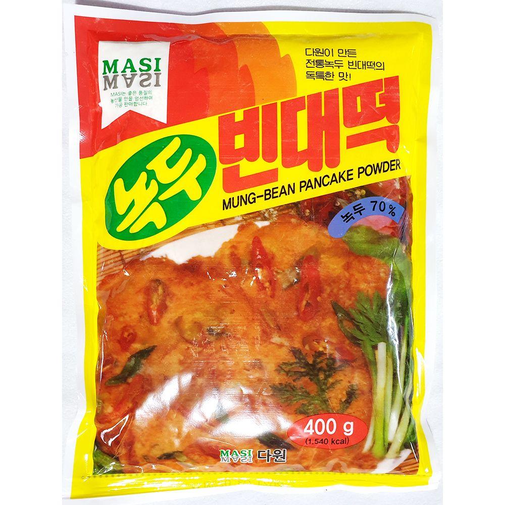 업소용 식당 식자재 녹두빈대떡가루 다원 400g X4