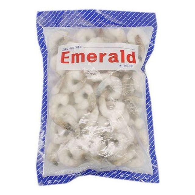 탈각 껍질 제거한 에메랄드 새우 31-40 900g