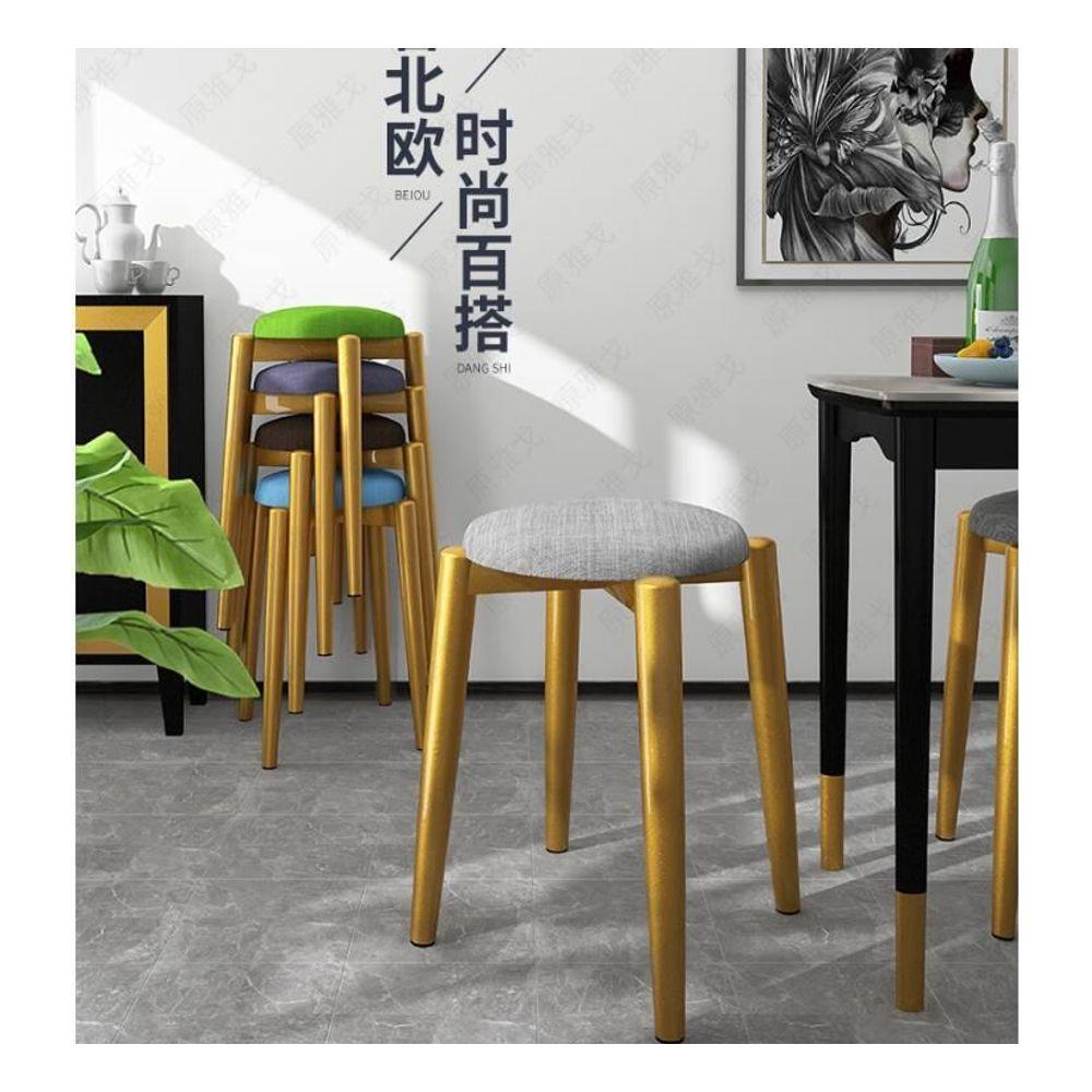 유럽풍 둥근 걸상 식탁 의자 패션 스툴 화장대 의자