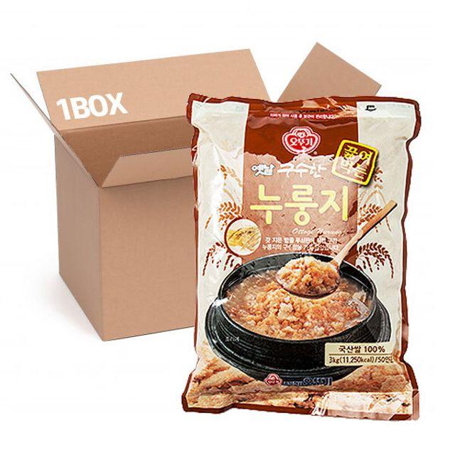 오뚜기 옛날 끓여먹는 누룽지 3kg (1box 4입)