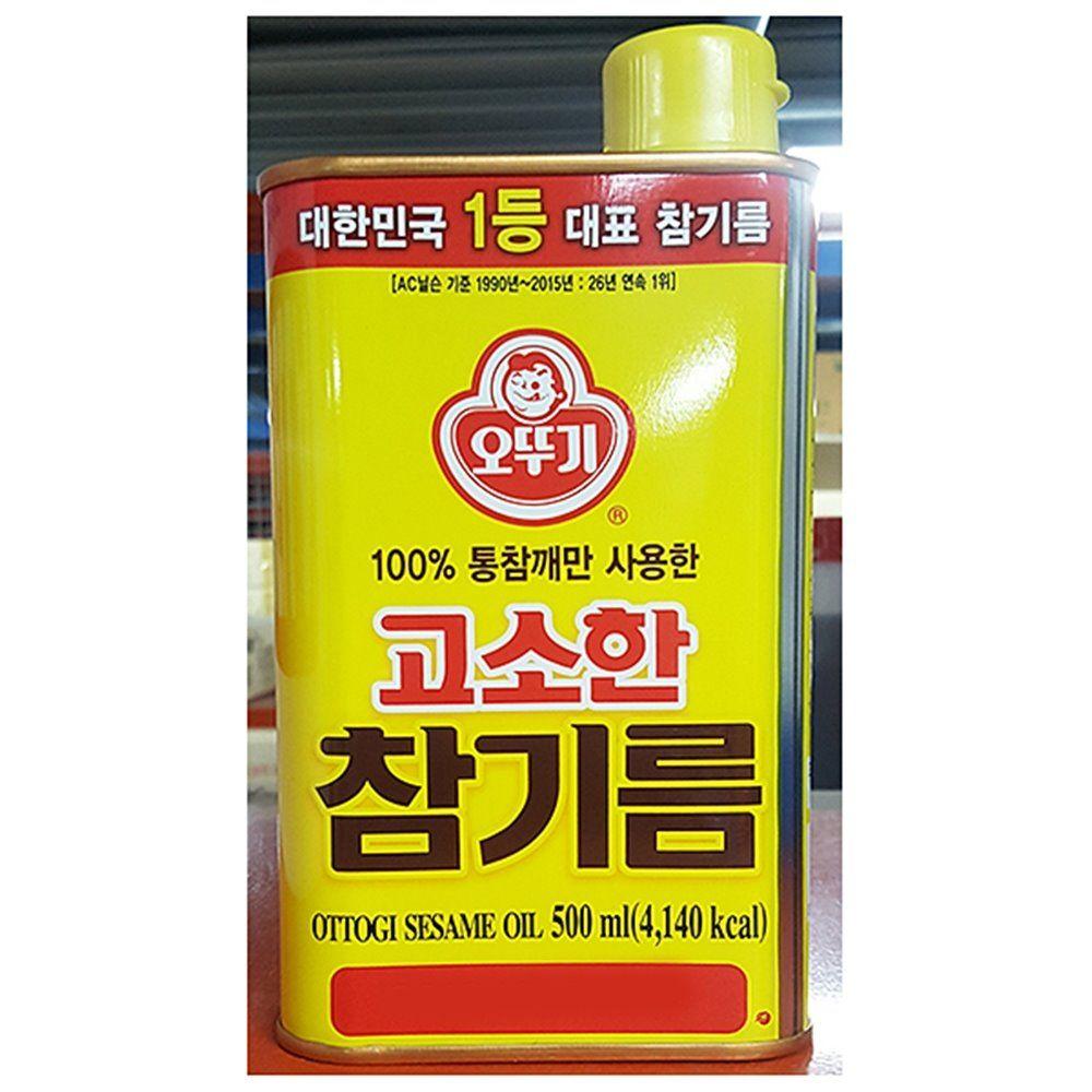고소한 참기름 오뚜기 500g 맛기름 챔기름 참향기름