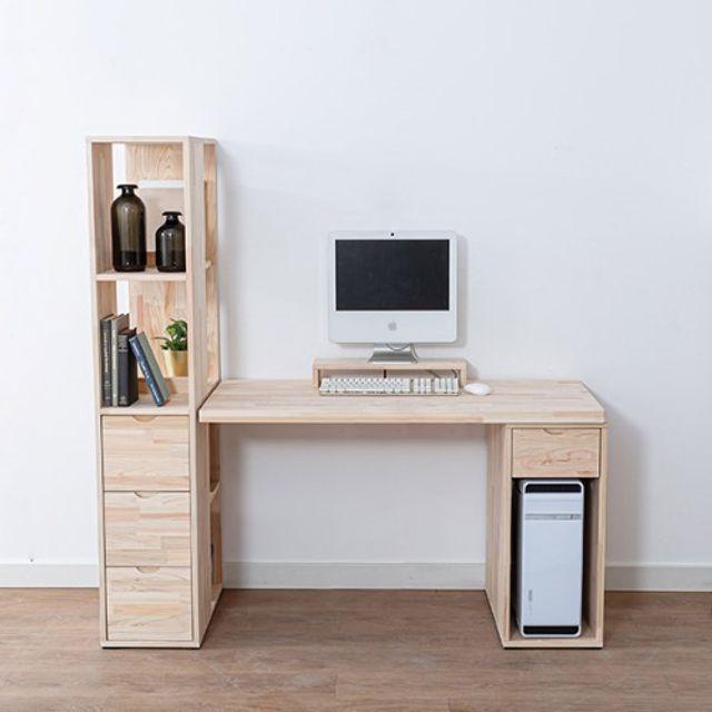 컴퓨터 책상세트(1200) 본체통 책꽂이 공부상 테이블