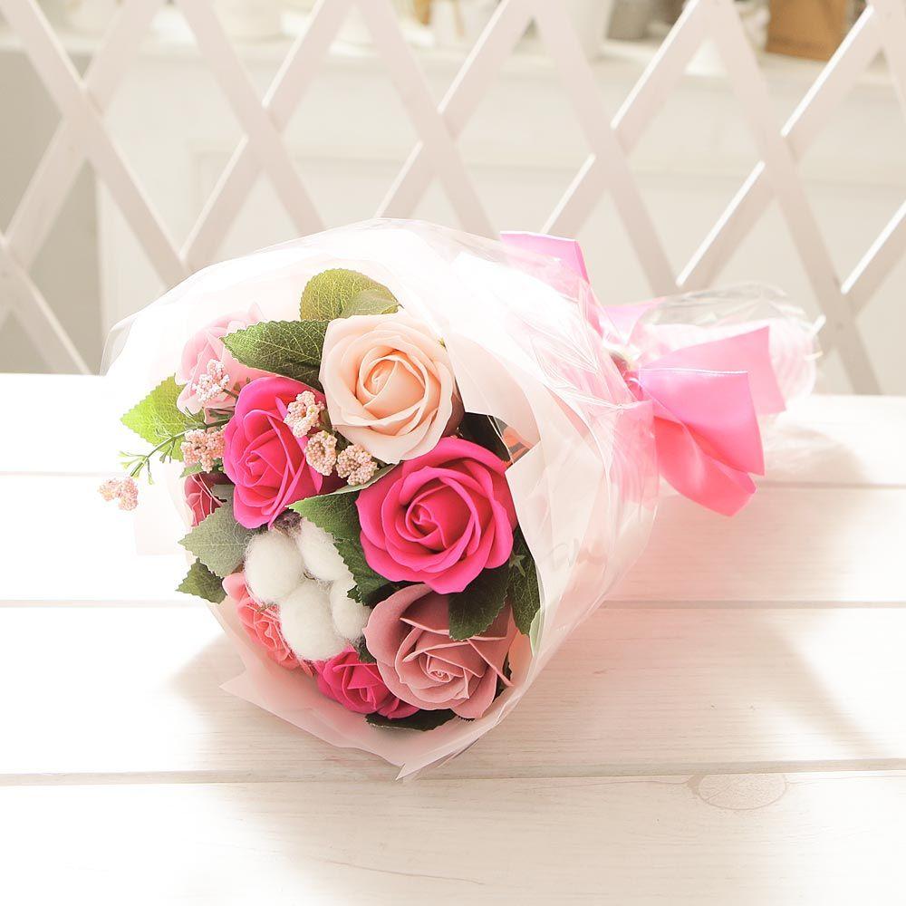 코튼 로즈 꽃다발 핑크 로즈데이 성년의날 부부의날
