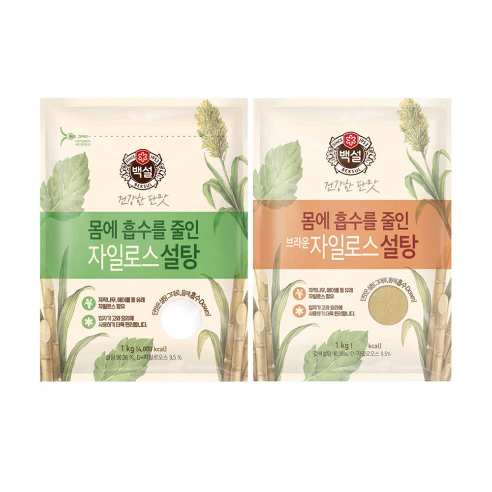건강한 단맛 백설 자일로스 하얀설탕/브라운설탕 1kg