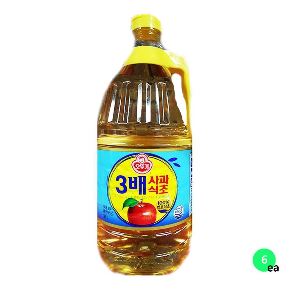 오뚜기 사과식초 3배사과식초 1.8LX6