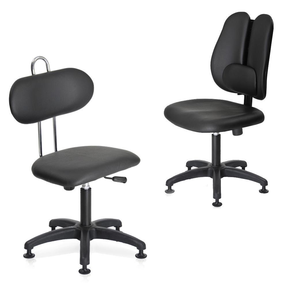 작업용 진료실 실험실 고정 의자 스툴 높낮이 조절