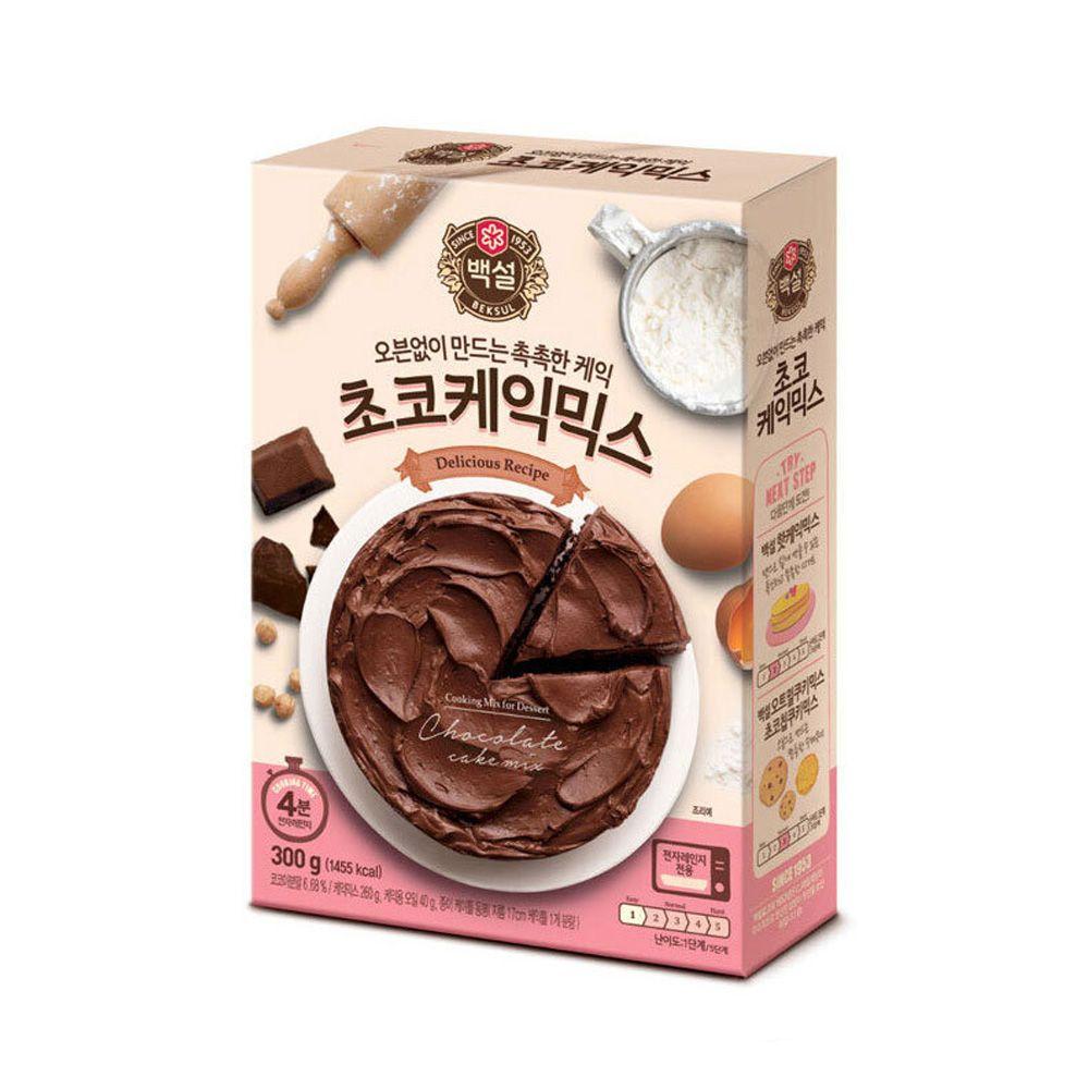 CJ백설 초코케익믹스 300g 케이크만들기 베이킹 제빵