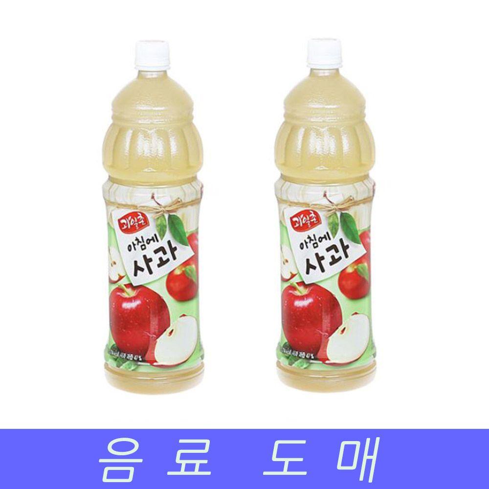 해태 음료수 도매 과채 음료 아침에 사과 1.5LX12EA
