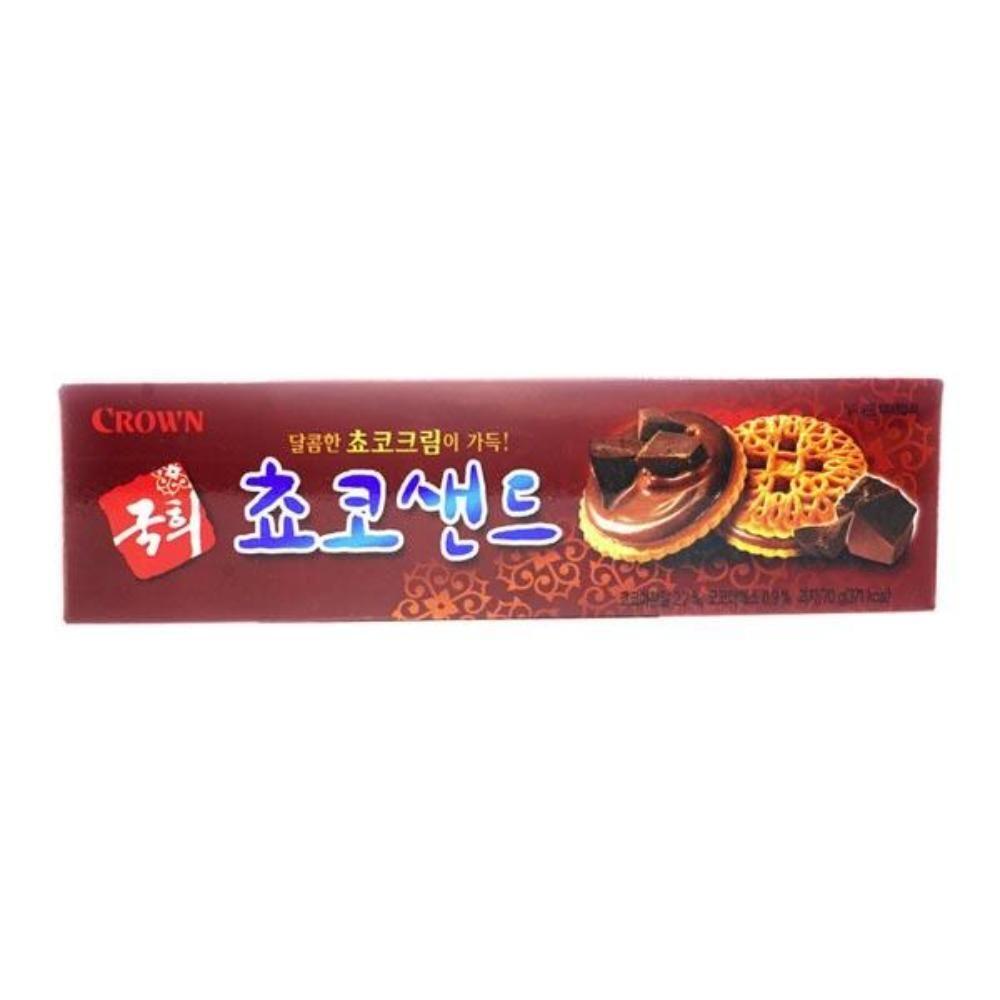 크라운 국희 쵸코샌드소 70g 간식 봉지과자 쿠키