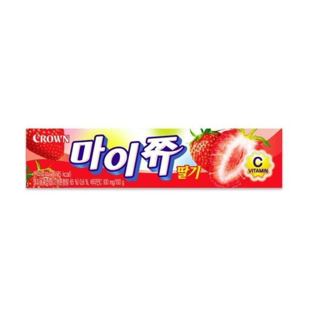크라운 마이쮸 딸기 스틱 44g 어린이간식 츄잉캔디