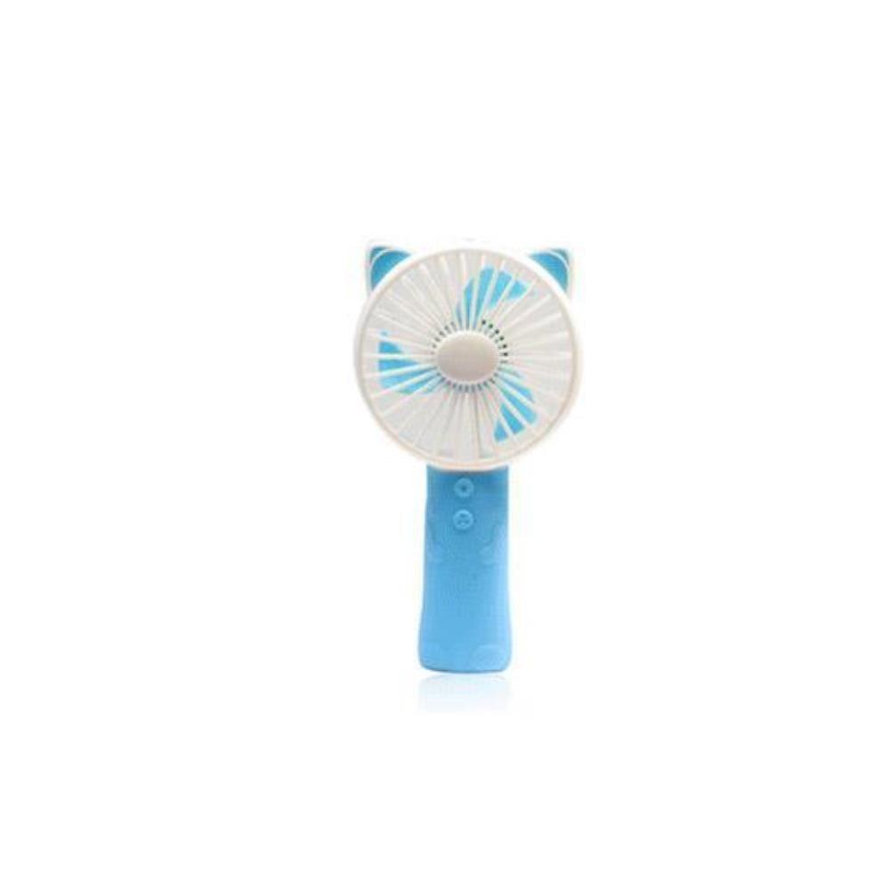 (2개묶음)깜찍한 고양이모양 미니 손선풍기 LED라이트