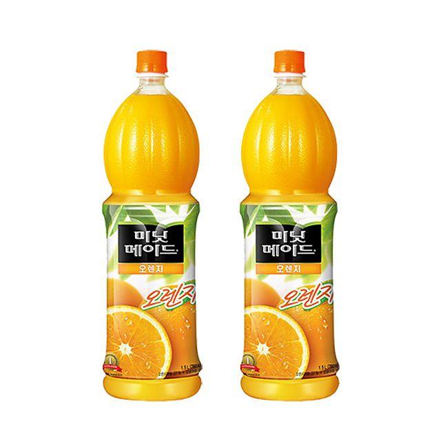 미닛메이드 오렌지 50% 1.5L 12개 웰빙 과일주스