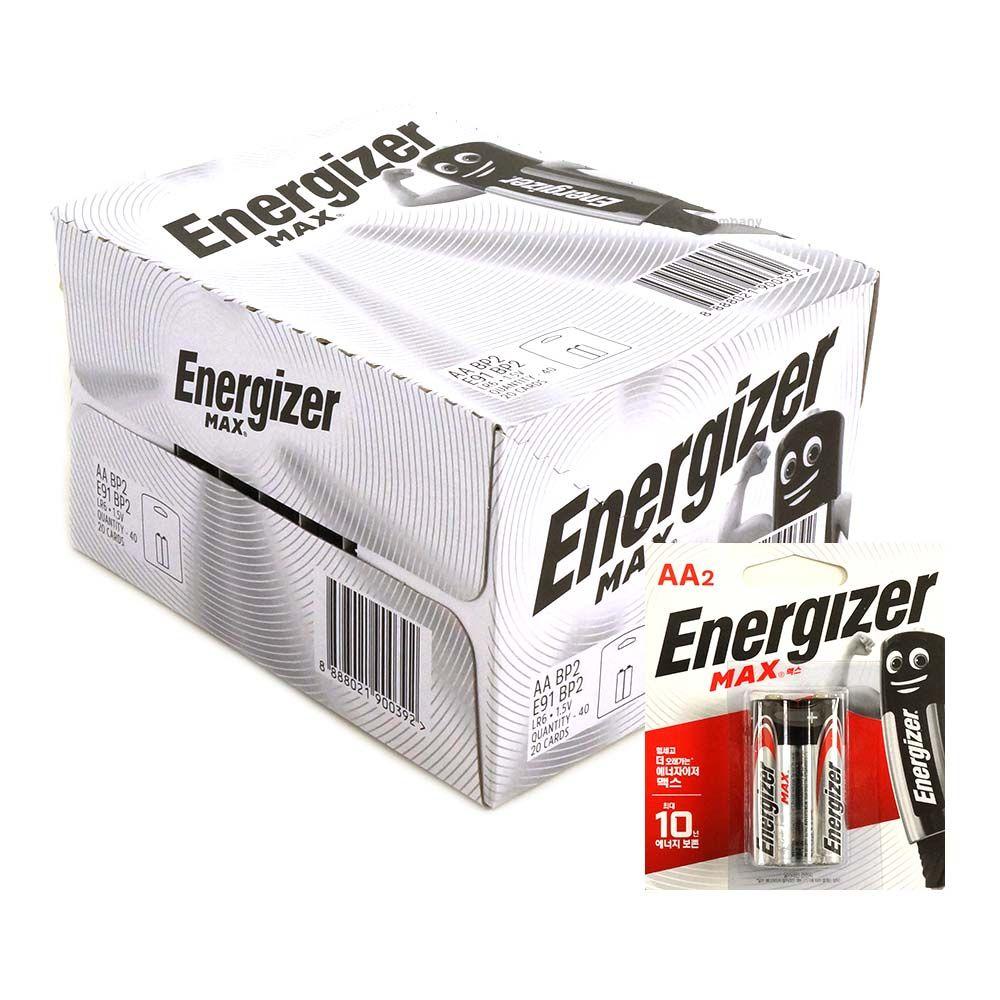 에너자이저 MAX 배터리 AA 1박스 40개입 2P
