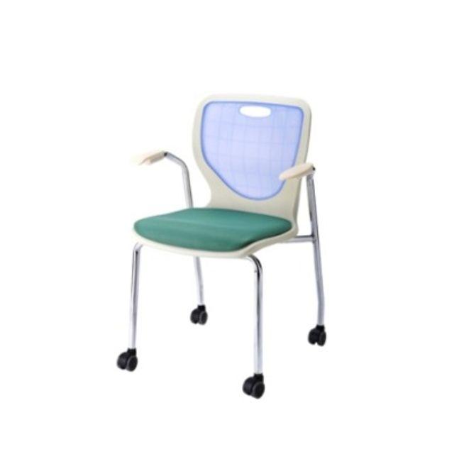 다용도 팔걸이 바퀴 의자 방석 암체어 사무용 학원
