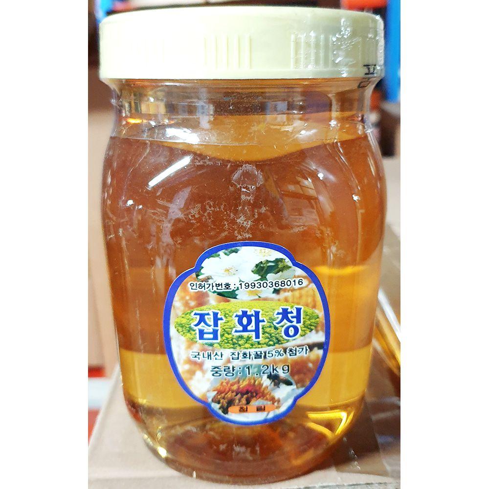 잡화청 꿀차 청림농원 1.2kg x15개 음료 베이스 가정