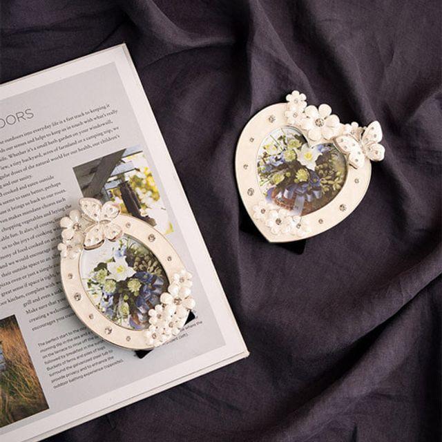 인테리어 플라워 나비 탁상 액자 -2종 예쁜 디자인