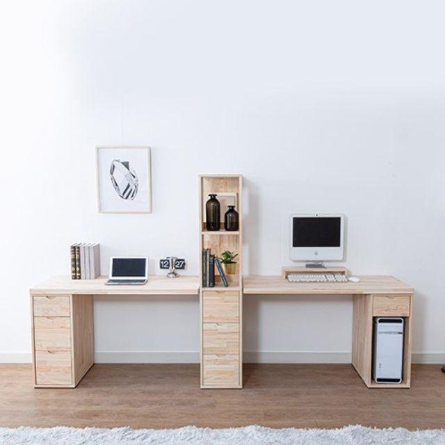 컴퓨터책상세트(2500) 2인용 공부상 가정 사무 테이블