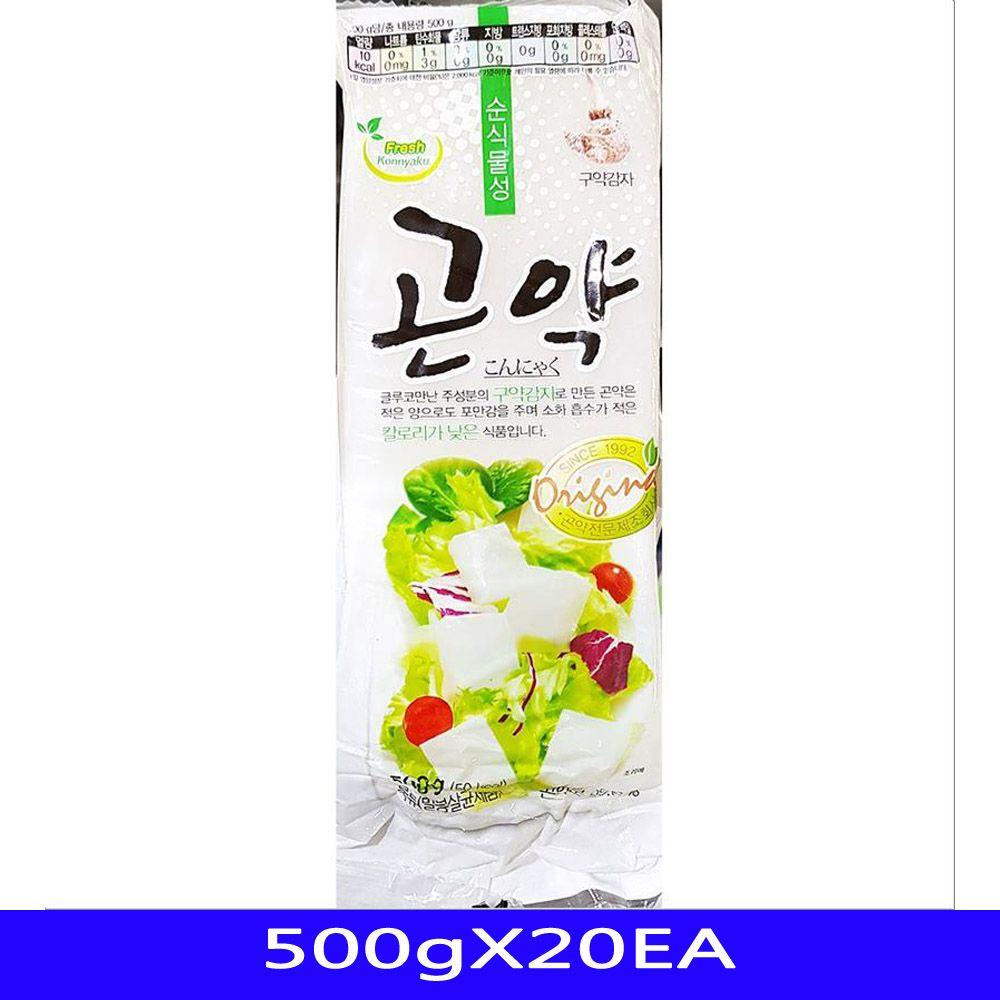 저칼로리 간식 묵곤약 음식재료 대신물산 500gX20EA