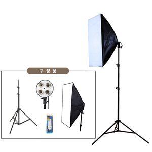 아이티알,LX 쇼핑몰 스튜디오 LED촬영조명 1인개인방송장비 4구SET